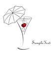 Cocktail with cherry vector image vector image