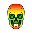 color sugar skull vector image