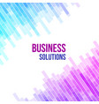 colorful abstract geometric business background vector image vector image