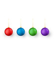 colorful christmas and new year toys on white vector image
