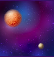 cosmic planets with a starry sky vector image