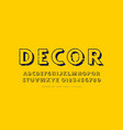 decorative sans serif font in classic style vector image vector image