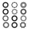 decorative wreath-logo design vector image vector image
