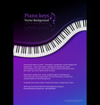 design template with top view piano keys vector image vector image