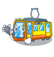 doctor electric train in character shape vector image vector image