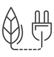 eco plug energy icon outline style vector image