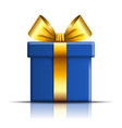 gift box blue icon open surprise present template vector image vector image