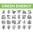 green energy and ecology line icon vector image