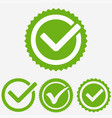 green tick mark check mark icon tick sign green vector image vector image