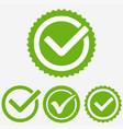 green tick mark check mark icon tick sign vector image