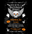 halloween night party banner for october holiday vector image vector image