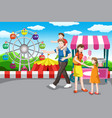 happy family going on a vacation vector image vector image
