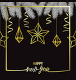 happy hew year scandinavian greeting card vector image