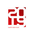happy new year 2019 background cover of business vector image vector image