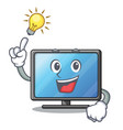 have an idea lcd tv isolated with the character vector image