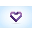 Heart icons logo vector image vector image