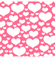 hearts pattern pink vector image vector image