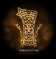 hipster polygonal cocktail absinthe neon sign vector image vector image