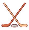 hockey stick icon cartoon style vector image vector image