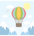 hot air balloon flying in the vector image vector image