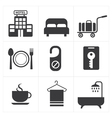 Hotel and Hotel Services Icon vector image vector image