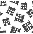 house seamless pattern background business flat vector image vector image