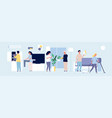 household people happy family mother father son vector image