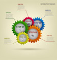 info graphic with abstract colored gears template vector image