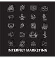 internet marketing editable line icons set vector image vector image