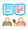 interview discuss icon outline vector image vector image