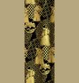 japanese chinese design seamless pattern samurai vector image