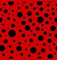ladybug seamless pattern lady bug background vector image