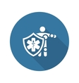 Life Insurance Icon Flat Design vector image vector image