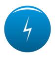 lightning icon blue vector image