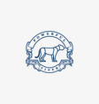 logo tiger power full vintage badge vector image