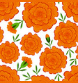 marigold seamless pattern day of the dead mexican vector image