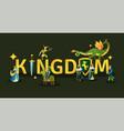 medieval kingdom golden lettering vector image vector image