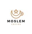moslem muslim coffee logo icon vector image