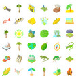 nature rest icons set cartoon style vector image vector image