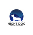 night dog design concept template vector image vector image