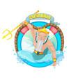 poseidon sea god character vector image vector image