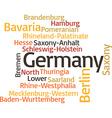 principal subdivisions of Germany vector image
