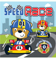 racing car cartoon vector image vector image