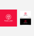 rose flower logo design vector image vector image