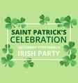 saint patricks day celebration vector image