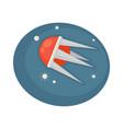satellite flying in space vector image