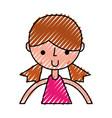 scribble upper body girl cartoon vector image vector image
