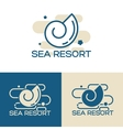 sea shell logo set vector image vector image
