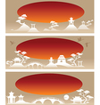 Set banners Abstract Asian Landscapes vector image vector image