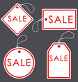 set of bright white-red sale banners label and vector image vector image